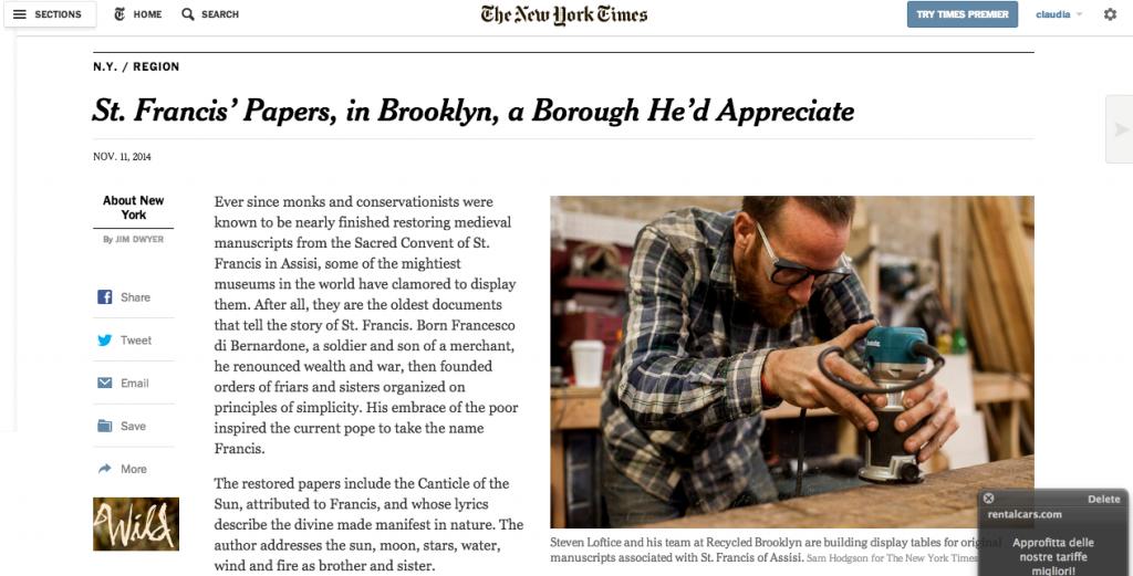 The New York Times, November 11, 2014.